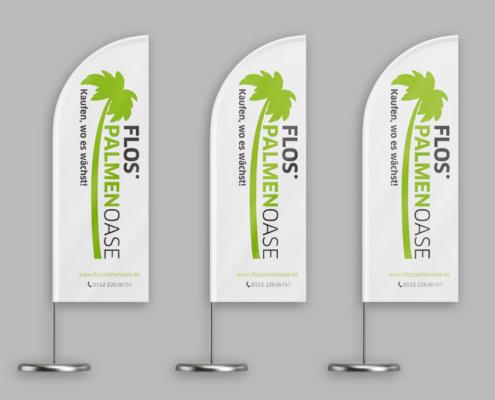 Beachflag für Flos Palmenoase - Ansicht gruppiert