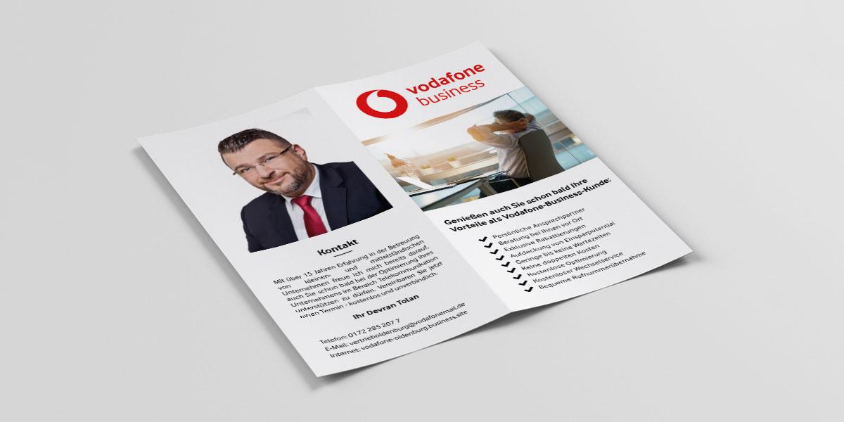Vodafone Business Folder von Devran Tolan - Ansicht links
