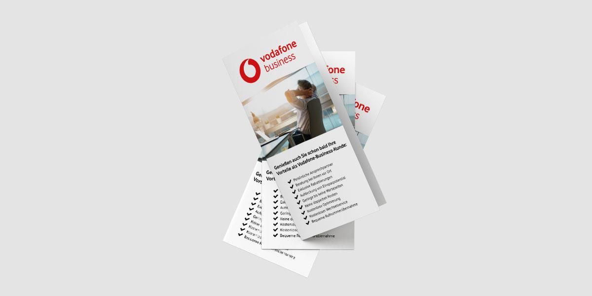 Vodafone Business Folder von Devran Tolan - Frontansicht