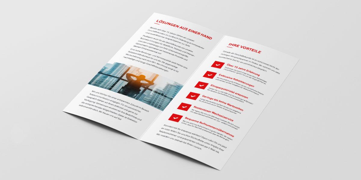 Vodafone Business Folder von Devran Tolan - Ansicht rechts
