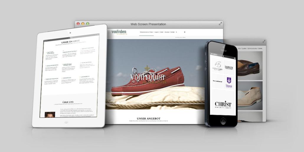 Ob Desktop, Tablet oder Smartphone - Alle Produkte und Dienstleistungen werden ansprechend präsentiert
